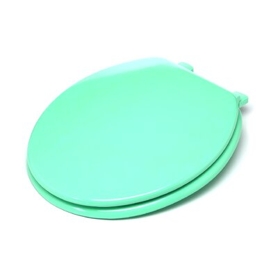 Molded Wood Round Toilet Seat Finish: Green