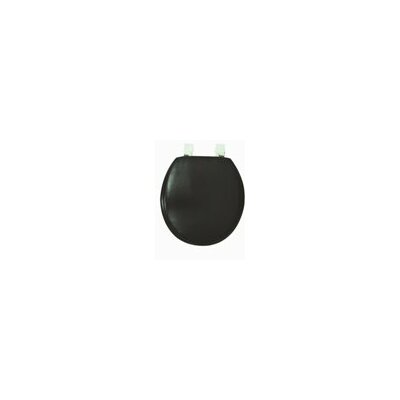 Solid Soft Round Toilet Seat Finish: Black
