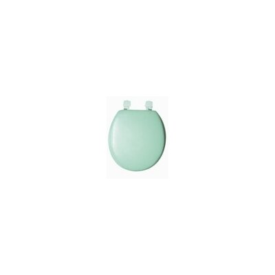Solid Soft Round Toilet Seat Finish: Green