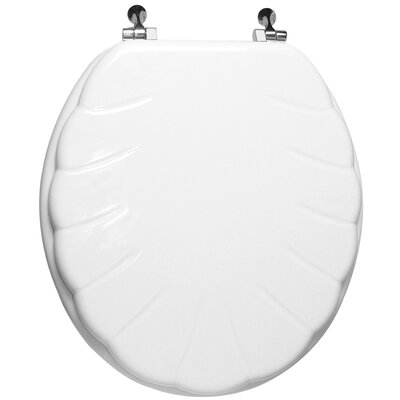 Engraved Wood Round Toilet Seat