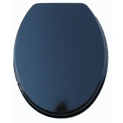Molded Wood Elongated Toilet Seat Finish: Black