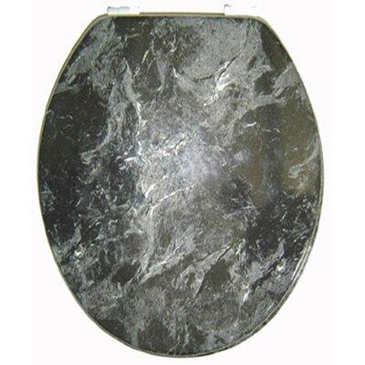 Marbleized Molded Wood Elongate Toilet Seat Finish: Black