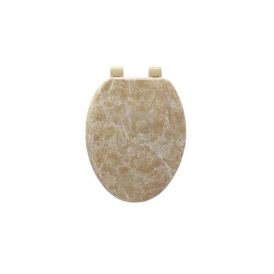 Marbleized Molded Wood Elongate Toilet Seat Finish: Tan