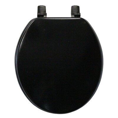 Molded Wood Round Toilet Seat Finish: Black