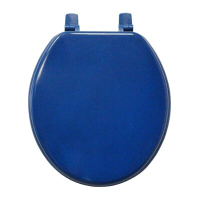 Molded Wood Round Toilet Seat Finish: Cobolt Blue