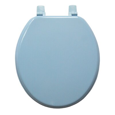 Molded Wood Round Toilet Seat Finish: Blue