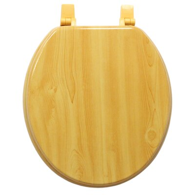 Molded Wood Round Toilet Seat Finish: Wood Grain