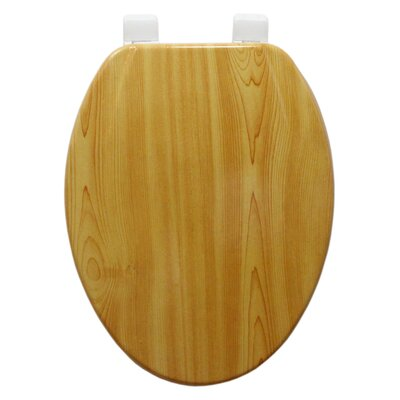 Molded Wood Elongated Toilet Seat Finish: Wood Grain