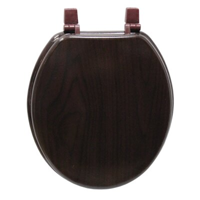 Marbleized Molded Wood Round Toilet Seat Finish: Deep Wood