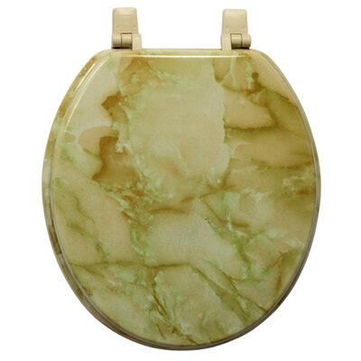 Marbleized Molded Wood Round Toilet Seat Finish: Agate