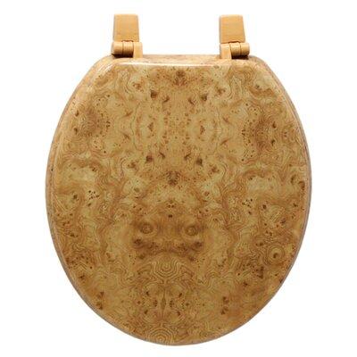 Marbleized Molded Wood Round Toilet Seat Finish: Light Wood