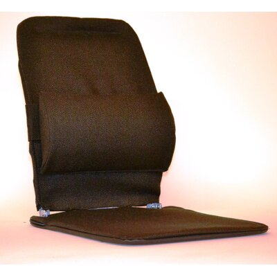 Seat Back Cushion with Adjustable Lumbar Support Finish: Brown