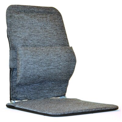 Seat Back Cushion with Adjustable Lumbar Support Finish: Charcoal