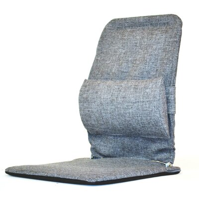 Seat Back Cushion with Adjustable Lumbar Support Finish: Grey