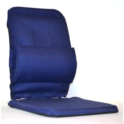 Bucket Seat Back Cushion with Adjustable Lumbar Finish: Blue