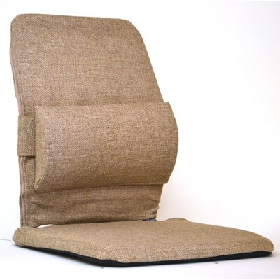 Bucket Seat Back Cushion with Adjustable Lumbar Finish: Light Brown