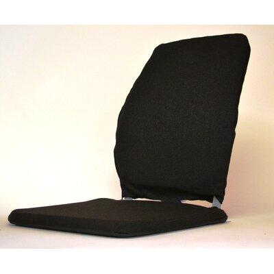 Deluxe Memory Foam Back Cushion Finish: Black, Size: 15