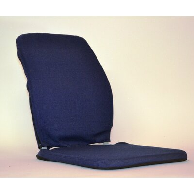 Deluxe Seat and Back Cushion Finish: Blue, Size: 19