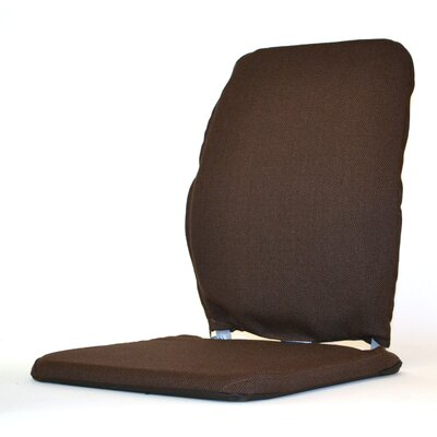 Deluxe Seat and Back Cushion Finish: Brown, Size: 19