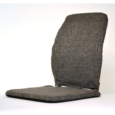 Deluxe Seat and Back Cushion Finish: Charcoal, Size: 19