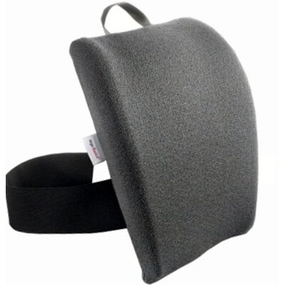 Memory Foam Back Cushion with Adjustable Belt Finish: Smoke