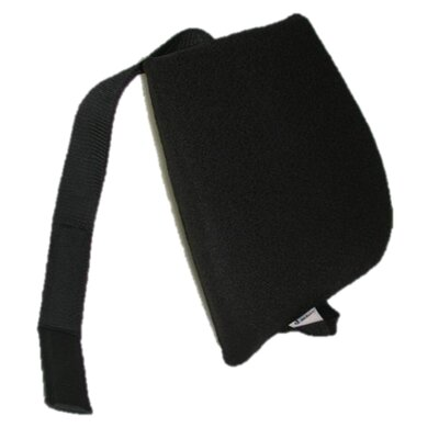 Memory Foam Back Cushion with Adjustable Belt Finish: Black