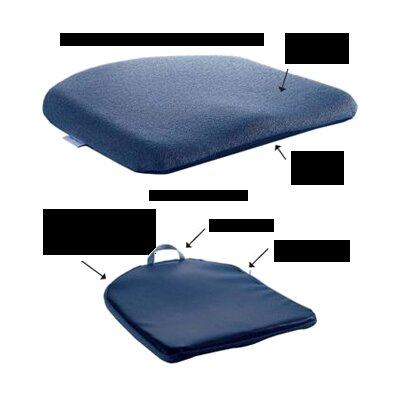 Memory Foam Molded Seat Finish: Blue