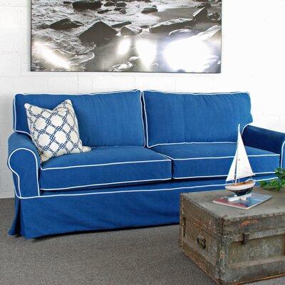 Sandy Slipcovered Sofa Upholstery: Navy