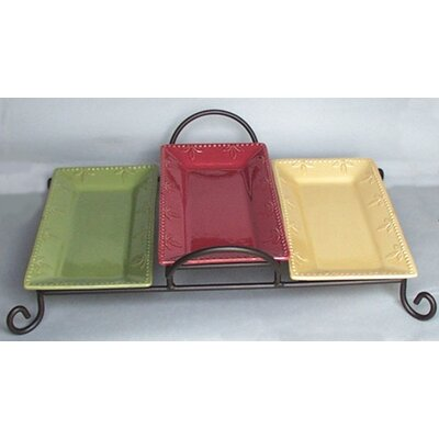 Sorrento Ruby 11.5 Three Tray Tiered Server With Caddy