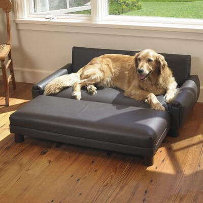 Faux Leather Dog Sofa