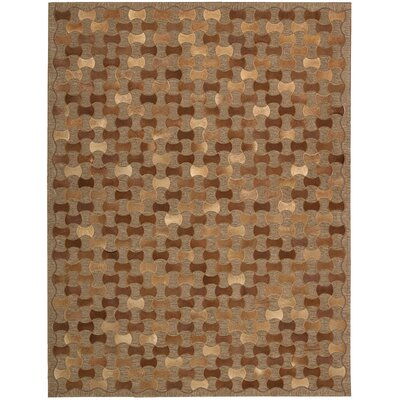 Chicago Hand-Woven Brown Area Rug Rug Size: 8 x 11
