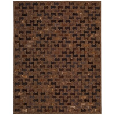 Chicago Hand-Woven Brown Area Rug Rug Size: 53 x 75
