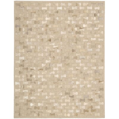 Delvecchio Hand-Woven Beige Area Rug Rug Size: Rectangle 36 x 56