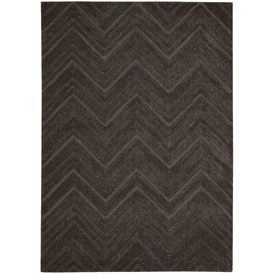 Rocco Hand-Woven Brown Area Rug Rug Size: Rectangle 56 x 75