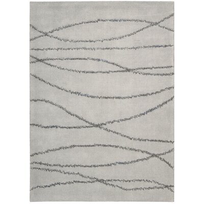 Rochon Hand-Woven Gray/Seafoam Area Rug Rug Size: Rectangle 53 x 74