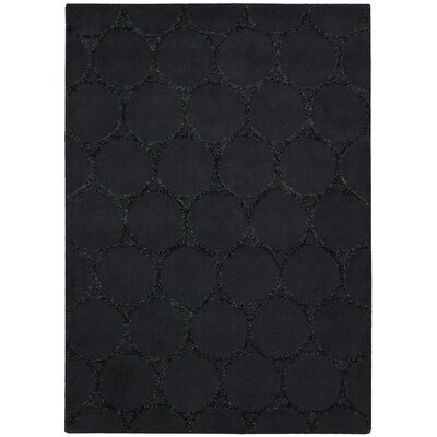 Rochon Black Area Rug Rug Size: Rectangle 79 x 99