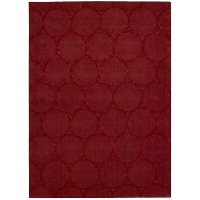 Rochon Hand-Woven Red Area Rug Rug Size: Rectangle 36 x 56