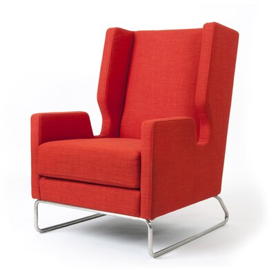 Danforth Wingback Chair Upholstery: Laurentian Sunset