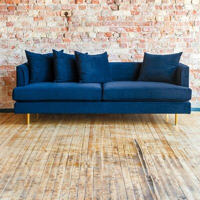 Margot Sofa with Cushions Upholstery: Velvet Midnight
