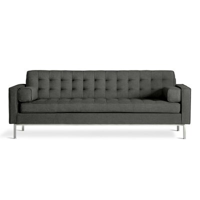 Spencer Sofa Body Fabric: Urban Tweed Ink, Leg Color: Silver