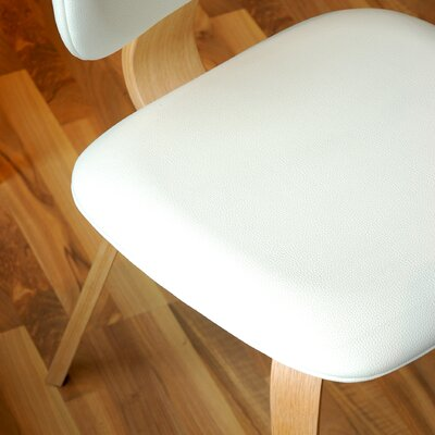 Thompson Side Chair Finish: Natural, Upholstery: White