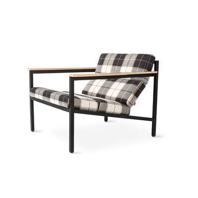 Halifax Armchair Upholstery: Tartan Shadow, Frame: Black Powder Coat