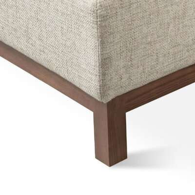Jane Reversible Sectional Upholstery: Leaside Driftwood, Finish: Walnut
