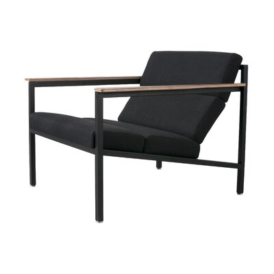 Halifax Armchair Upholstery: Black / Laurentian Onyx, Frame: Black Powder Coat