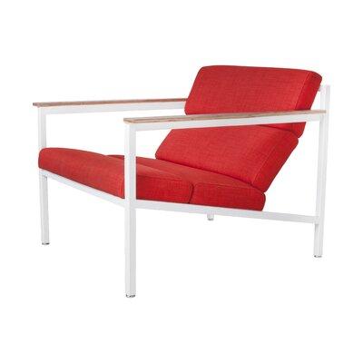 Halifax Armchair Upholstery: White / Laurentian Sunset, Frame: White Powder Coat