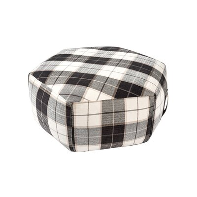 Hex Pouf Ottoman Upholstery: Plaid