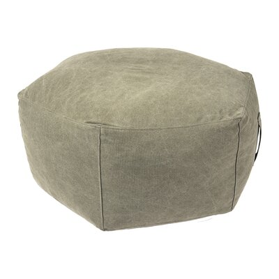 Hex Pouf Ottoman Upholstery: Vintage Army
