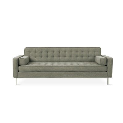 Spencer Sofa Body Fabric: Vintage Army, Leg Color: Silver