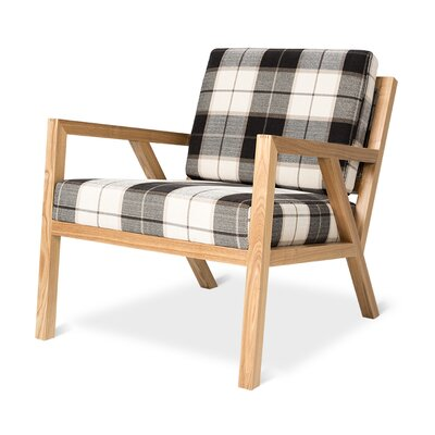 Truss Armchair Upholstery: Tartan Shadow