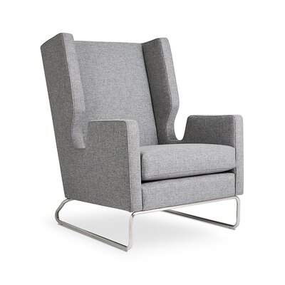 Danforth Wingback Chair Upholstery: Parliament Stone